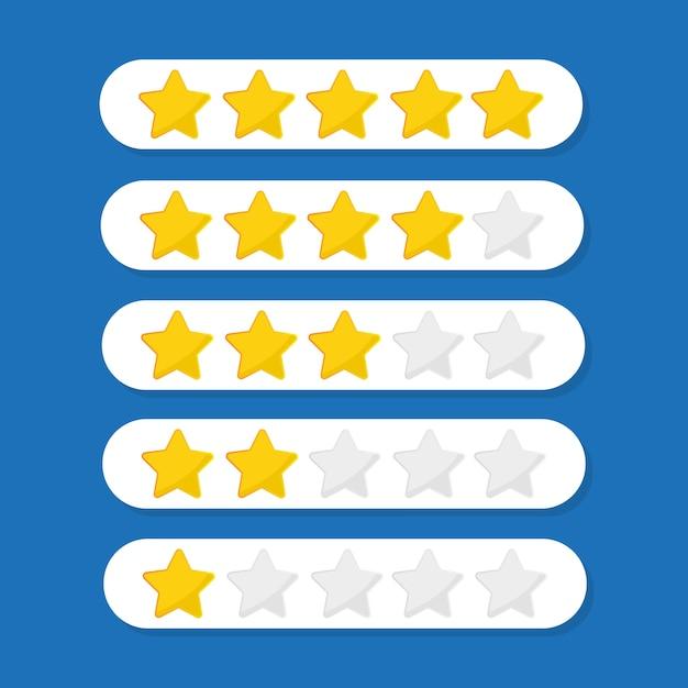 Kundenbewertungsillustration mit fünf sternen Premium Vektoren
