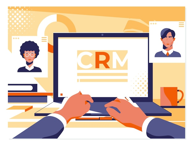 Kundenbeziehungsmanagement-konzept Premium Vektoren