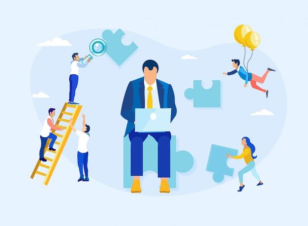 Kundenbeziehungsmanagement und führung Premium Vektoren