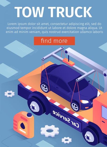 Kundendienst für abschleppwagen Premium Vektoren
