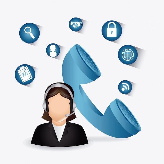 Kundenservice-design. Premium Vektoren