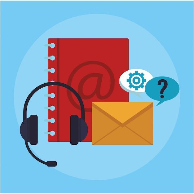 Kundenservice und support Premium Vektoren