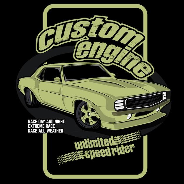 Kundenspezifische motorautos Premium Vektoren