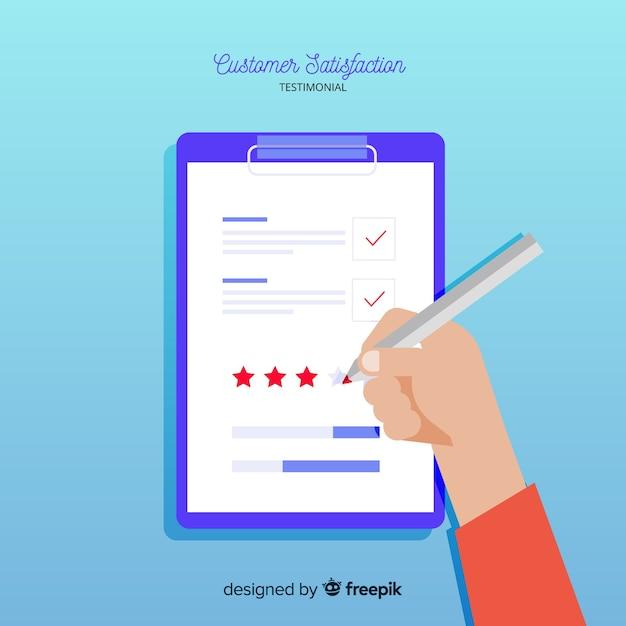 Kundenzufriedenheit testimonial Kostenlosen Vektoren