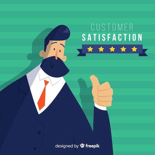 Kundenzufriedenheits-design in der flachen art Kostenlosen Vektoren