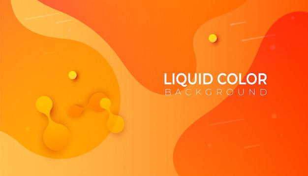 Kunststoff flüssigkeit wellen banner vorlage. Premium Vektoren