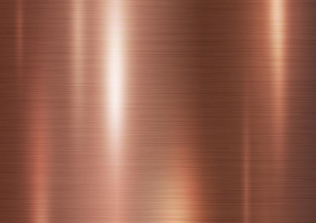 Kupferne metallbeschaffenheitshintergrund-vektorillustration Premium Vektoren