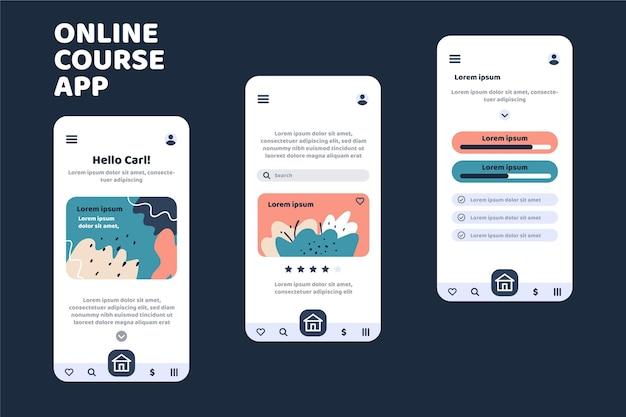 Kurs-app-vorlage Kostenlosen Vektoren