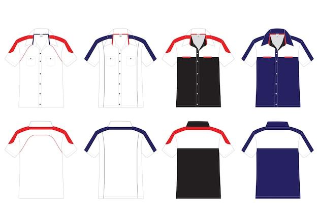 Kurzes shirt-vektor-design Premium Vektoren