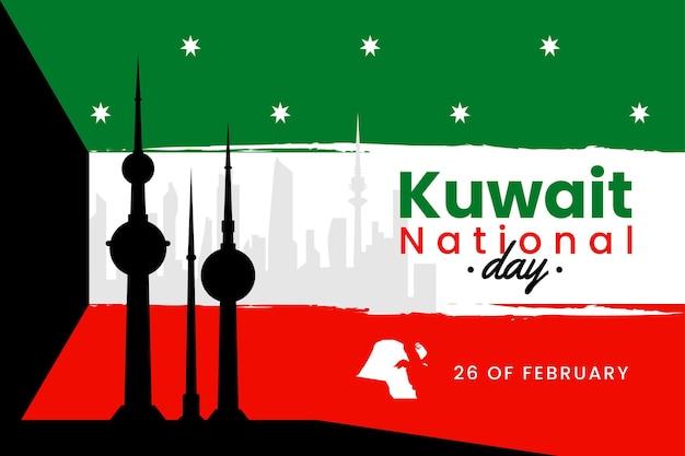 Kuwait nationalfeiertag im flachen design Kostenlosen Vektoren