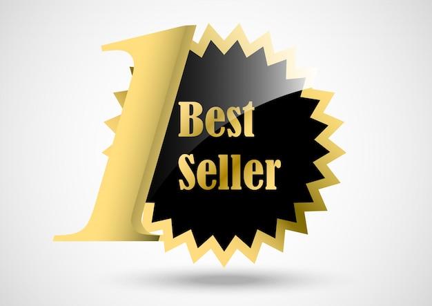 Label bestseller gold Premium Vektoren
