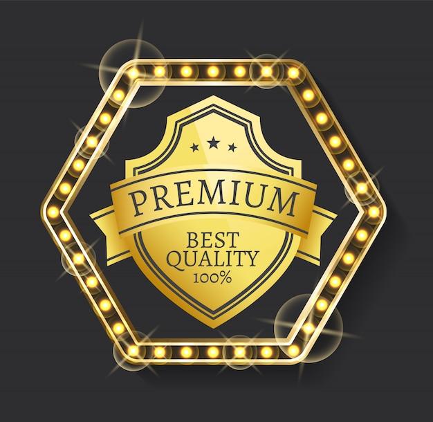 Label für premium-produkt, hohe qualität Premium Vektoren