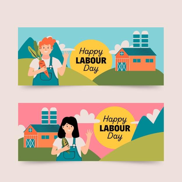 Labor day banner Kostenlosen Vektoren