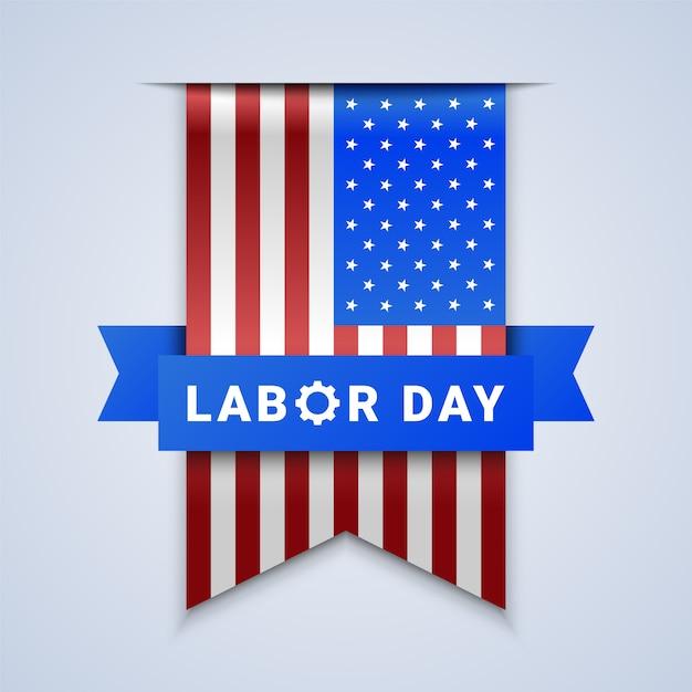 Labor day ribbon banner Premium Vektoren