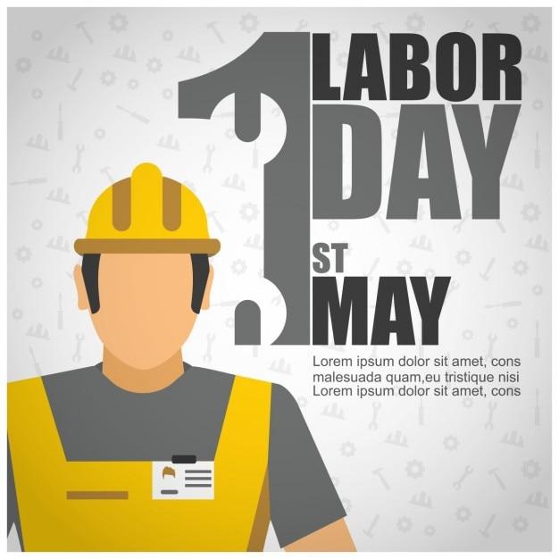 Labor day worker plakatschablone Kostenlosen Vektoren