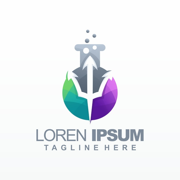 Labor farbverlauf logo vektor, vorlage, illustration Premium Vektoren