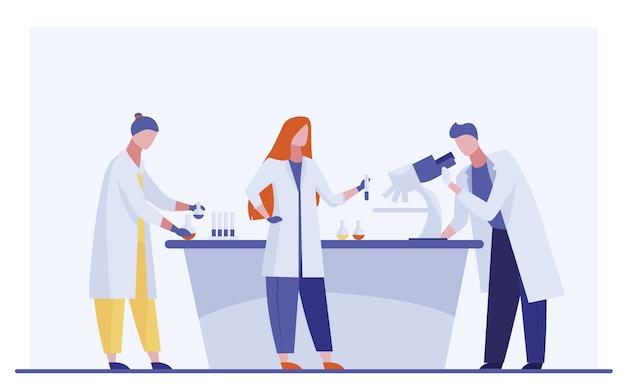 Laborassistenten forschen Kostenlosen Vektoren