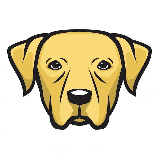 Labrador-kopfhund Premium Vektoren
