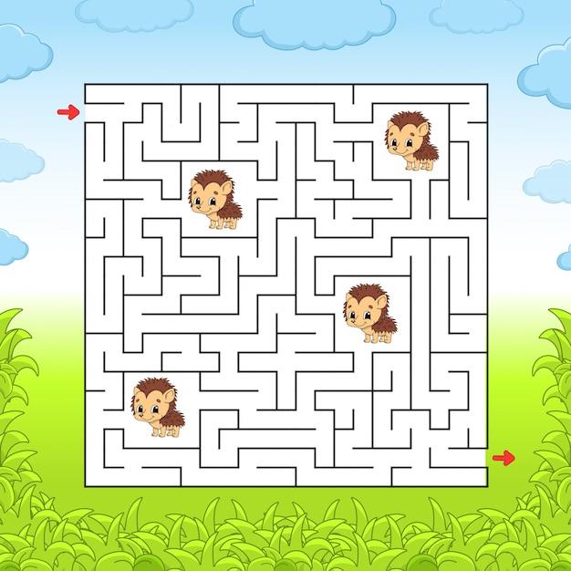 Labyrinth kindliche aktivitäten Premium Vektoren