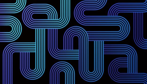 Labyrinthlinien zusammenfassung Kostenlosen Vektoren