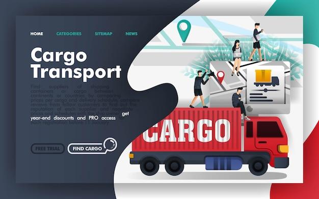 Ladung transport-vektor-illustration Premium Vektoren