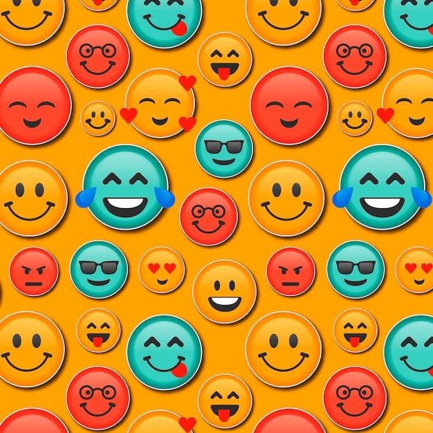 Lächeln emoticons muster Kostenlosen Vektoren