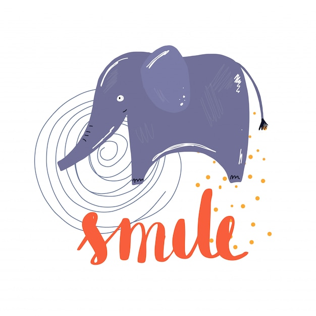 Lächeln vektor alephant Premium Vektoren