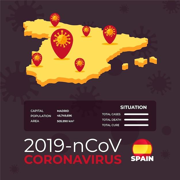 Länderkarte infografik für coronavirus Kostenlosen Vektoren