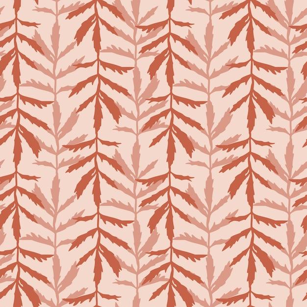 Lässt nahtlose muster. herbstsaisonmuster für textildruckdesign. einfarbige tapetenbeschaffenheit. Premium Vektoren