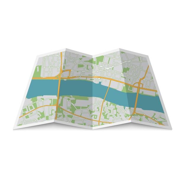 Lage stadtplan Premium Vektoren