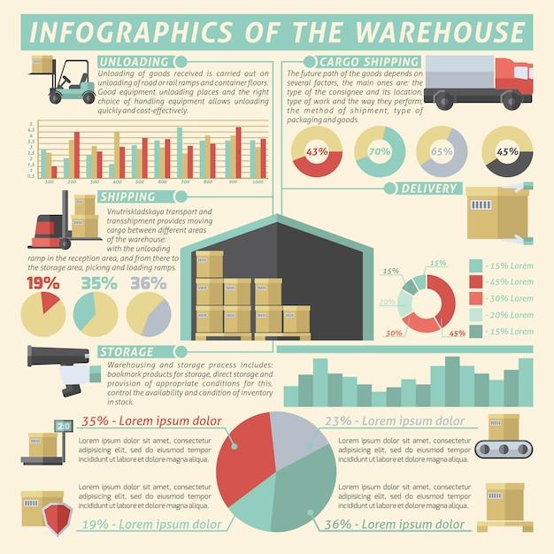 Lager infographik set Kostenlosen Vektoren
