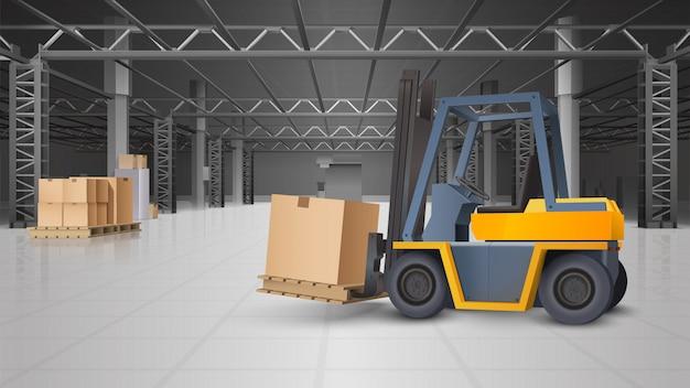 Lagerinnenraum und logistik-hintergrund Kostenlosen Vektoren