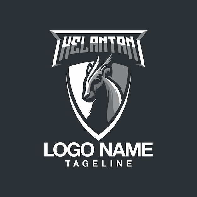 Lamm-logo-design Premium Vektoren
