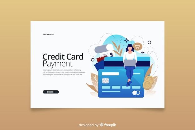 Landing page kreditkarte zahlungskonzept Kostenlosen Vektoren