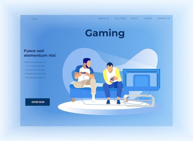 Landing page offer datenanalyse im gaming Premium Vektoren