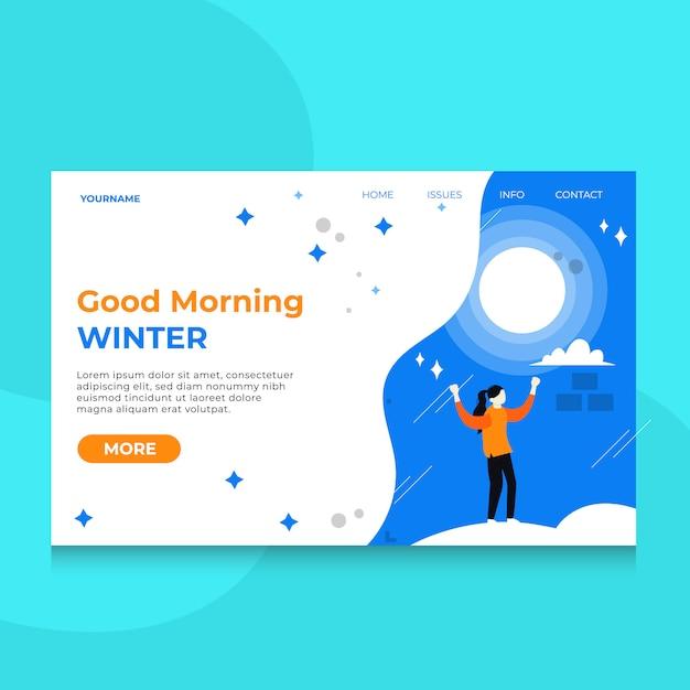 Landing page special winter Premium Vektoren