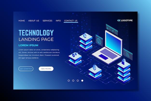 Landing page technologiekonzept vorlage Kostenlosen Vektoren