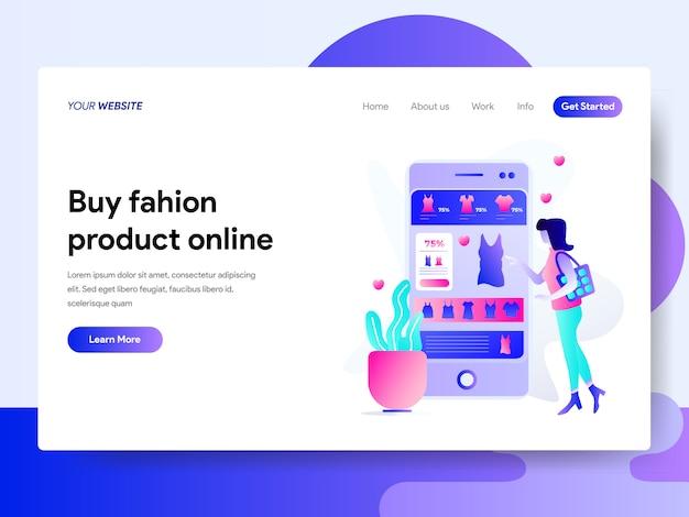Landing-page-vorlage für online-shopping Premium Vektoren