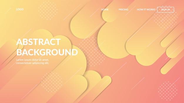 Landing page web template mit dynamischen modernen abstrakten design für websites Premium Vektoren