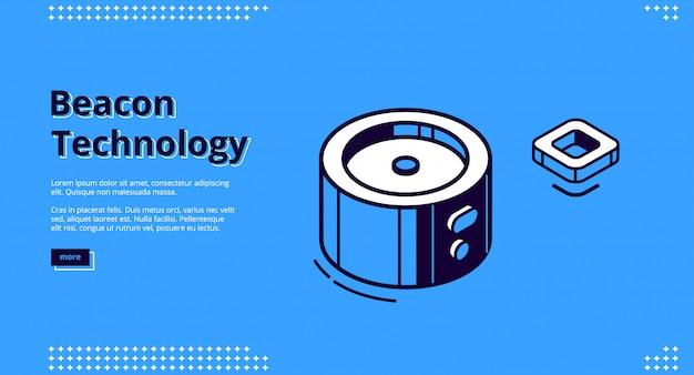 Landingpage der beacon-technologie Kostenlosen Vektoren