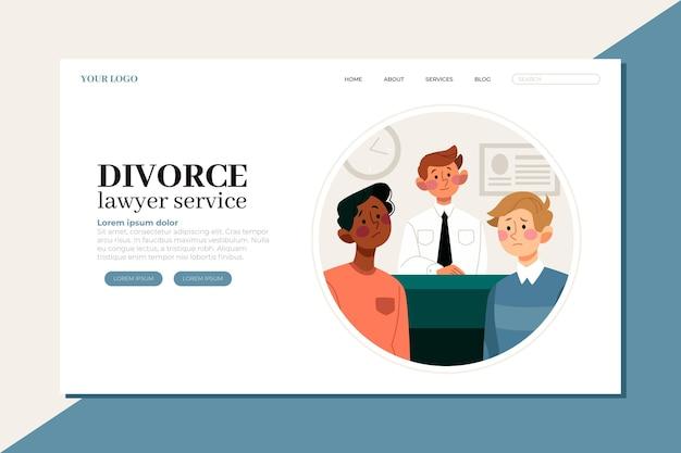 Landingpage des scheidungsrechtsanwalts Kostenlosen Vektoren