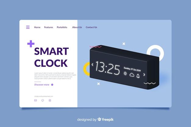 Landingpage design für smarte uhren Kostenlosen Vektoren