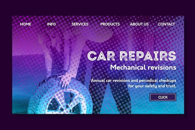 Landingpage für die reparatur von mechanikern Kostenlosen Vektoren
