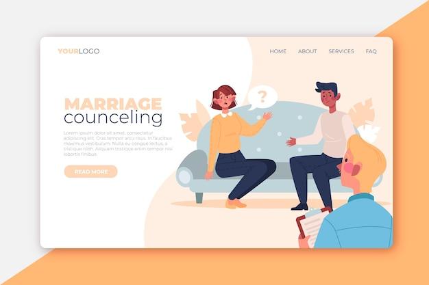 Landingpage für eheberatung Kostenlosen Vektoren