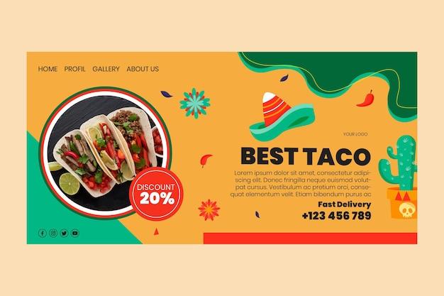 Landingpage für mexikanisches essen Kostenlosen Vektoren