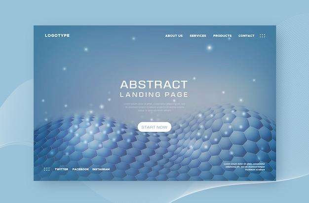 Landingpage mit abstrakten formen Kostenlosen Vektoren