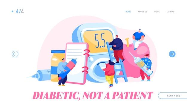 Landingpage-vorlage für diabetes-krankheit Premium Vektoren