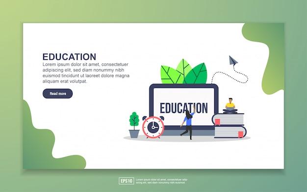 Landingpage-vorlage von education Premium Vektoren