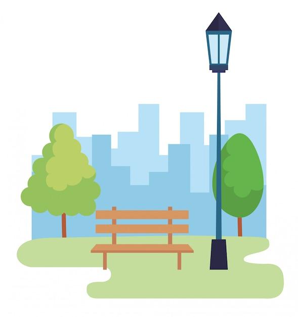 Landschaftspark-szene-symbol Kostenlosen Vektoren