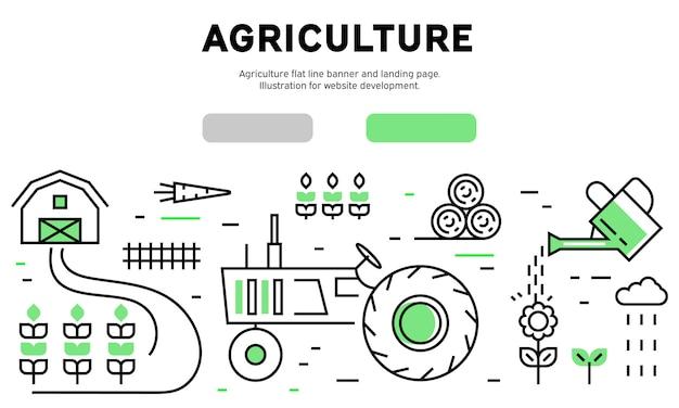 Landwirtschaft infographik Premium Vektoren